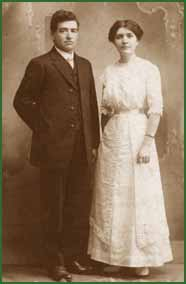 Charles and Sophia Swegle at the time of their marriage.